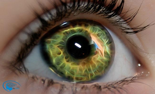 چشمان تیله ای